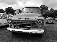 Stokesley Classics on Show 2018-36 (Kev's.Pix) Tags: stokesleyclassics2018 classiccars cars northyorkshire stokesley event vehicles chevrolet truck american blackandwhite stokesleyclassicsonshow2018
