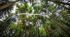 #zipline 2.0: The #ZipCoaster combines #zipline and #rollercoaster a new breed of ride http://bit.ly/2nmWeD2 (Skywalker Adventure Builders) Tags: high ropes course zipline zipwire construction design klimpark klimbos hochseilgarten waldseilpark skywalker
