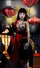 """I'M A DRAGON"" (Mind Crusher) Tags: second life edith alderbury dappa tattoo refuge red lantern lily lipstick catwa legene iseul kim melly clarrigton succubus morningstar"