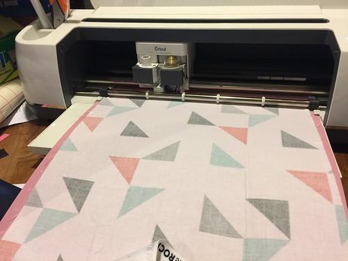 cutting fabric - fabric coasters