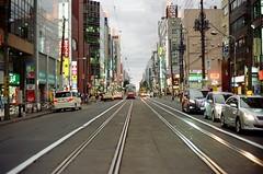 Sapporo as it ([M!chael]) Tags: nikon f3hp nikkor 5014 ai ultramax400 sapporo hakodate night jap kodak street