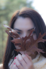Portrait in Leaves (marielochphotography) Tags: portrait girl leaves autumn fall closeup