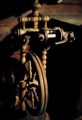 Spinning wheel (mkk707) Tags: film analog wwwmeinfilmlabde leicar7 leicasummiluxr50mm2ndmodel11776 kodakportra800 itsaleica vintagelens vintagefilmcamera alpbach österreich austria