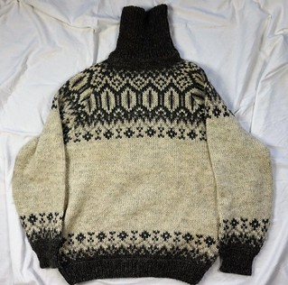 Icelandic turtleneck wool sweater