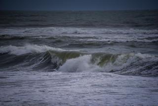 Atlantic Ocean waves along Black Sand Beach - Vik Iceland