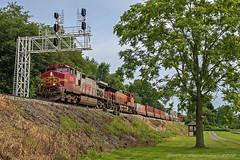 BNSF Railway GE C44-9W 709 (Harry Gaydosz) Tags: trains railroads locomotives pa pennsylvania westpittsburg bnsf burlingtonnorthernsantafe csxtransportation bnsf709 csxtq277