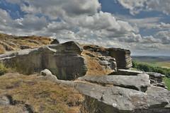 Stanage Edge Rocks (Bri_J) Tags: stanageedge peakdistrict nationalpark hathersage derbyshire uk countryside hdr nikon d7200 rocks hill summit sky clouds