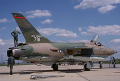 F-105B Thunderchief 57-5791 of the 141st TFS/108th TFG New Jersey ANG (JimLeslie33) Tags: f105 thunderchief republic olympus om1 575791 mcguire afb 141 141st tfs 108 108th tfg new jersey ang nj fighter thud usaf