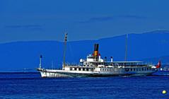 La Suisse au départ d'Ouchy (Diegojack) Tags: vaud suisse lausanne ouchy d500 bateau cgn lasuisse belleepoque vapeur ancien retro groupenuagesetciel