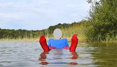 Water aerobics (wetmuddy) Tags: water fun aqua agua gymnastik sport spandex lycra pantyhose tights strumpfhose wet wetlook unitard leotard body lake forest outdoor