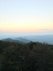 BB mountain 3 (GAWV) Tags: northgeorgia blueridgemountains georgia sunset moonrise view peace serenity trees mountains haze appalachiantrail clouds