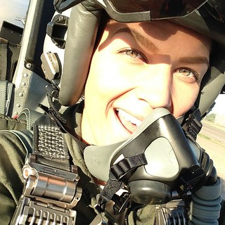 US Female F-16 Fighter Pilot Capt Zoe Kotnik