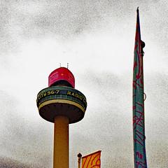 Radio City 96.7: Liverpool (Mike Cook 67) Tags: citycentre radiocitytower liverpool1 liverpool cityandthestreetgroup nikon 35mm analog analogue film n80group f80group nikonfilmcameragroup
