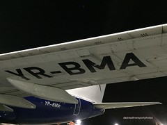 Blue Air - YR-BMA (anthonymurphy5) Tags: landing runway aviation planepictures nightstopper takeoff blueair yrbma boeing737700 liverpooljohnlennonairport jetphotos plane planephotography