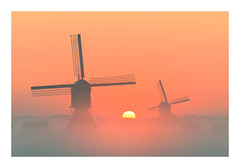 Uppel sunrise (jos.pannekoek) Tags: molen molens brabant landscape landschap nikon nikkor 70200f4 mist mistig sunrise zonsopkomst