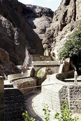 Aden - Tawila Tanks Outlet 1 (motohakone) Tags: jemen yemen arabia arabien dia slide digitalisiert digitized 1992 westasien westernasia ٱلْيَمَن alyaman kodachrome paperframe
