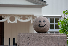 a smile for those who pass (long.fanger) Tags: norway oslo gate whimsy