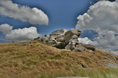 Hill-Top Boulders (Bri_J) Tags: stanageedge peakdistrict nationalpark hathersage derbyshire uk countryside hills nikon d7200 hdr clouds sky boulder rocks