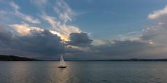 upcoming rain (hjuengst) Tags: ammersee lake see boat sailboat segelschiff clouds rain regen wolken bavaria bayern dramaticsky herrsching
