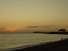 Sunset in Brittany (degreve.sarah) Tags: sunset see fisherman