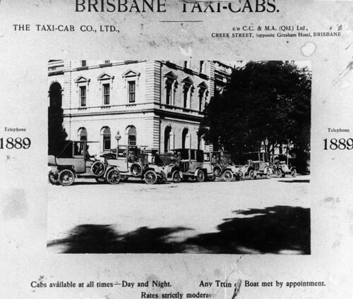 Advertisement for Brisbane Taxi-Cabs, ca. 1908