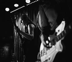 Midnight Opera (BurlapZack) Tags: dallas texas unitedstates us pentaxk1 pentaxfalimited43mmf19 vscofilm pack06 dallastx deepellum threelinks midnightopera gothglam artrock artpop avantglam bw mono monochrome guitar guitarist guitarduder frontwoman sheshreds livemusic localmusic band availablelight lowlight highiso handheld bokeh dof musician