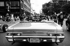 Downtown Car Show (Nicholas Erwin) Tags: downtown city urban street people candid car automotive automobile travel carshow autoshow auto vehicle classiccar vintage convertible chevrolet chevy impala contrast blackandwhite monochorme bw mono fujifilmxt2 fujixt2 fujifilm fuji xt2 xf23mmf2 xf23mmf2rwr manchester newhampshire nh unitedstatesofamerica usa america fav10 fav25