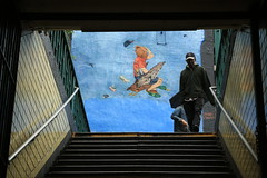 sean9lugo (Luna Park) Tags: ny nyc newyork manhattan streetart mural amartstop sean9lugo wheatpaste boy bear duck books unsanctionednyc subway mta lunapark