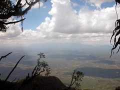 Mt. Mulanje from Mt. Chiperone summit (a very rare view)