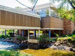 Boulder Public Library (deepaqua) Tags: treebranch colorado library boulder bouldercreek creek water