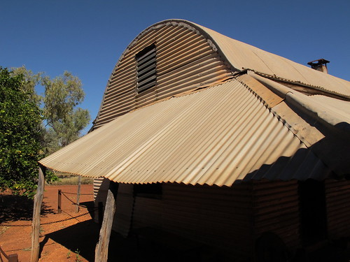 Corrugated verandah roof