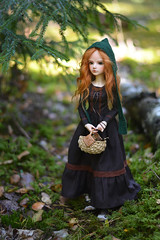 Little Green Riding Hood (hoe-nir) Tags: souldoll lev hybrid minifee msd bjd doll