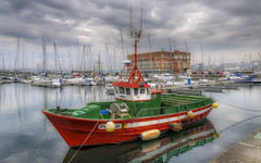 Anageli (danilob1) Tags: danilobruschi spain galicia acoruña port boat storm clouds city seascape highlights