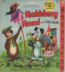 Huckleberry Hound 45RPM ( Golden Record 1959 ) (Donald Deveau) Tags: huckleberryhound cartoon hannabarbera record goldenrecords vinyl yogibear 45rpm tvshow