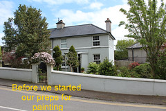 Exterior painting Clonakilty, before