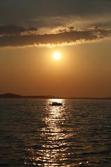 Zadar Sunset (DaveStrong) Tags: canon 5d 5dmarkii 5dii 5d2 5dmark2 mark markii mark2 2 ii 24105mm 24105 24105l summer sun adriatic sea water croatia zadar sunset boat waves island silhouette shadows shadow clouds yellow orange black