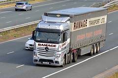 NJ63 LBF (Martin's Online Photography) Tags: mercedes actmp truck wagon lorry vehicle freight haulage commercial transport a1m northyorkshire nikon nikond7200