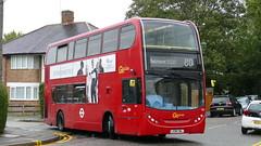 VEry Different (londonbusexplorer) Tags: goahead london volvo b9tl adl enviro 400 ve2 lx58cwl 80 hackbridge reynolds close belmont high down downview prisons tfl buses