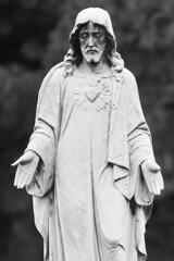 Jesus (Thomas Hawk) Tags: missouri saintspeterandpaulcemetery stlouis usa unitedstates unitedstatesofamerica bw cemetery sculpture fav10