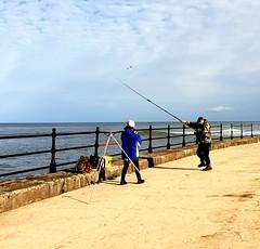 Sunny Scarborough 22/09/18 (nikola swann) Tags: fishermen scarborough waves northyorkshire mortheastcoast sea sky yorkshire