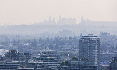 Wildfire Smoke over Vancouver BC (PhotoDG) Tags: haze metrovancouver lowermainland airquality air pollution wildfire smoke smog city cityscape vancouver weather smoky canada britishcolumbia airqualityadvisories environment climate