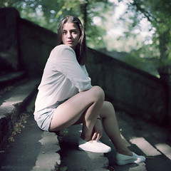 Alexandra (Analogsquare) Tags: hasselblad 500cm carl zeiss planar 8028 kodak portra 160vc expired film analog medium format portrait beauty bokeh dof square nature outdoors female young girl brunette
