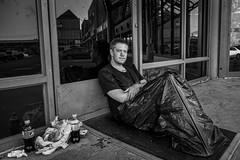 Isaac 5/100 (Dan Fleury Photos) Tags: kingston ontario photography portraits canada strangers face2face isaac street environmental black white blackandwhite