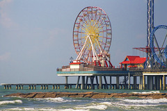 Wheel on the Ocean (Alex Vargo) Tags: sky water ocean wheel ferris pier beach red blue fun color colorful