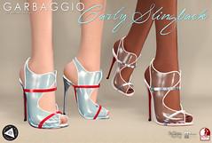Carly Slingback (Ashleey Andrew) Tags: garbaggio sl secondlife virtual world fashion apparel accessories footwear shoes original mesh shoe sandal clear pvc plastic fameshed