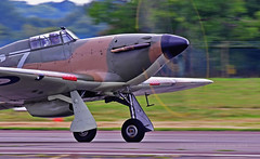 Charge! (Ian A Photography) Tags: aeroplanes aircraft airshow aviation battleofbritain bigginhill fighters hawker hawkerhurricane hurricane historicaircraft nikon planes p2921 petebrothers warbirds warplanes
