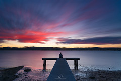 Timeless (FPL_2015) Tags: gosford nsw australia landscape sunset ocean bluehours sky red sony1635gm sonya7riii