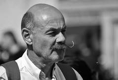 Mr. Moustache (Photographer : Hans Stellingwerf) Tags: amsterdam damamsterdam straatfotografie streetphotography nederland netherlands holland mensen people straatmoment portret portrait