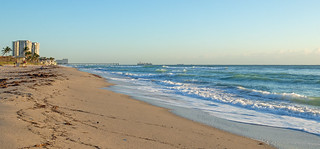 Hollywood Beach with Dania Pier in the background FLK27818