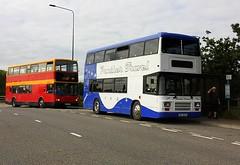 Bourne Bridge (Chris Baines) Tags: panther travel leyland olympian big 9249 parked bourne bridge bus stopipswich buses dennis trident plaxton president lx04 fyb 92 service manningtree ipswich